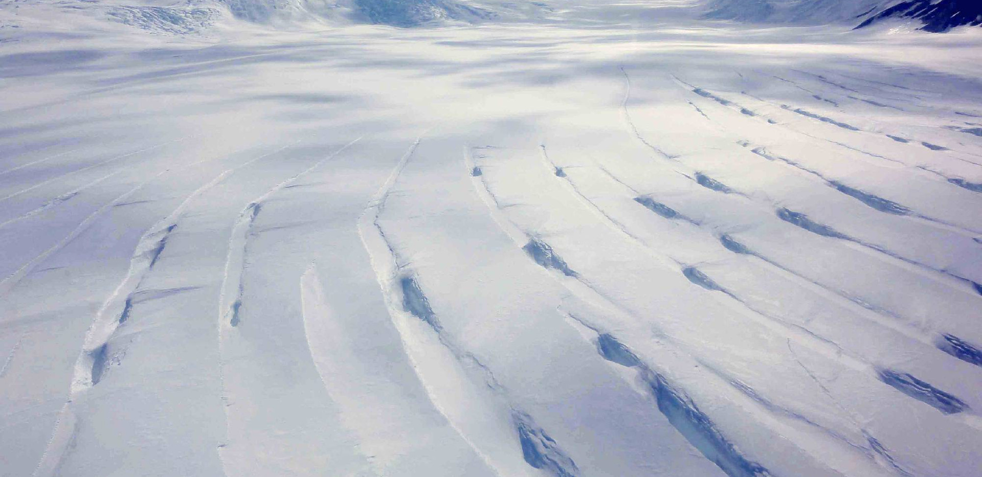 Byrd Glacier crevasses.