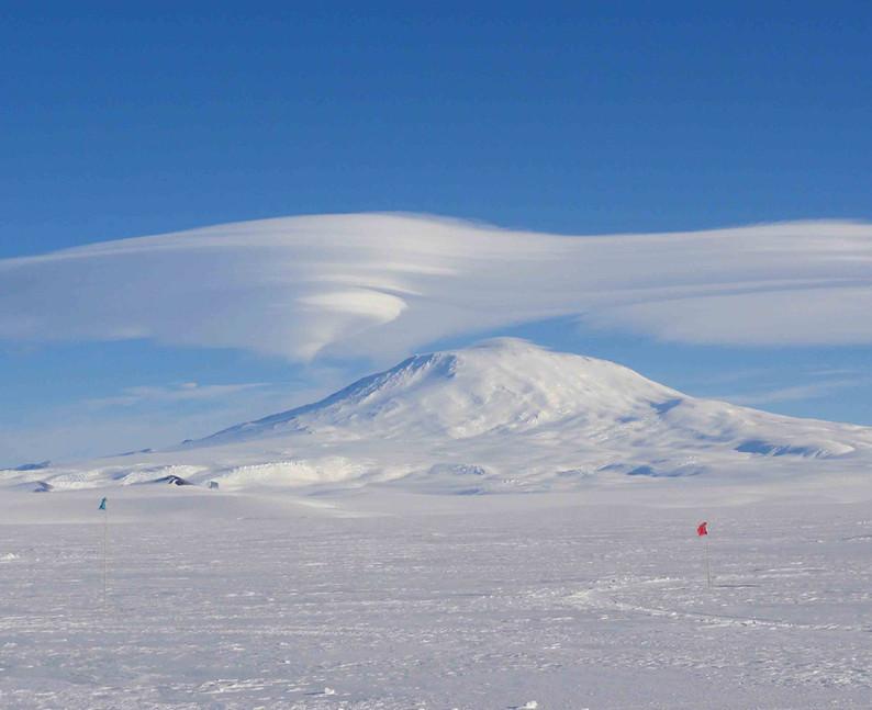 Lenticular clouds above Erubus.
