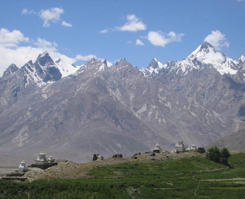 Stupas in Zanskar.