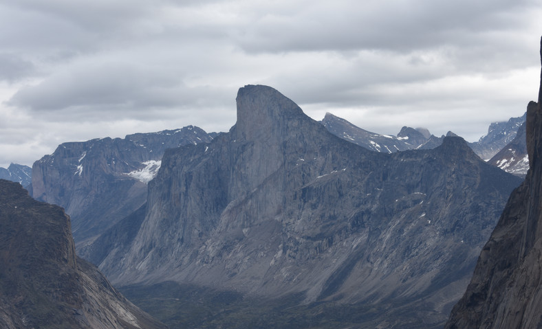 Mt. Thor, greatest vertical drop in the world.