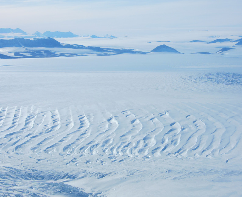 Crevasses from above.