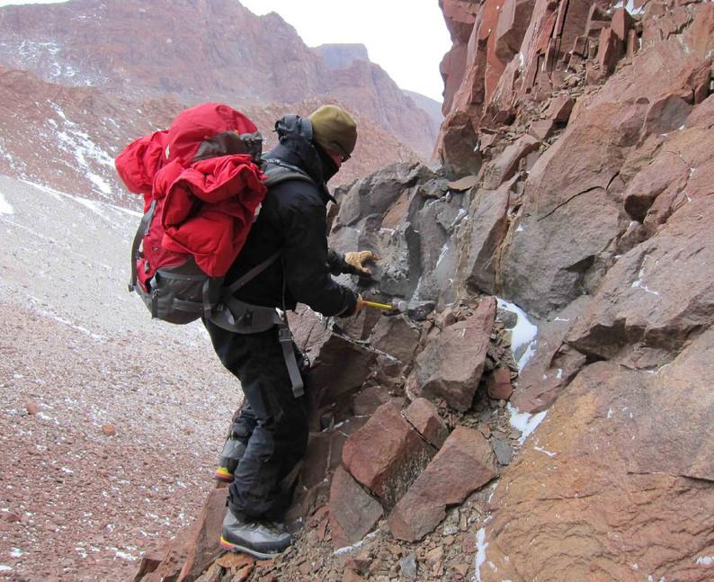 Scrambling for rocks.