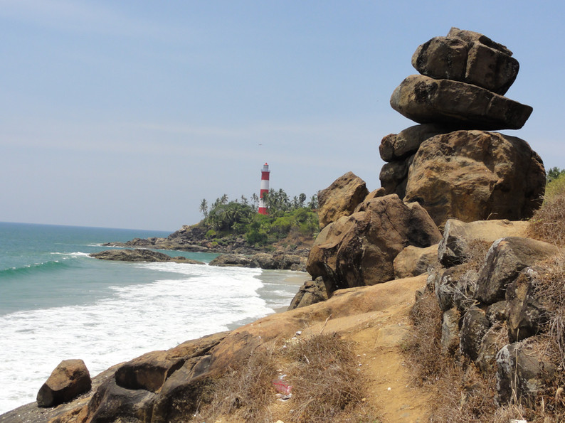 Beautiful Kerala coastline.