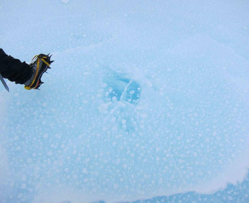 Bubbly ice.