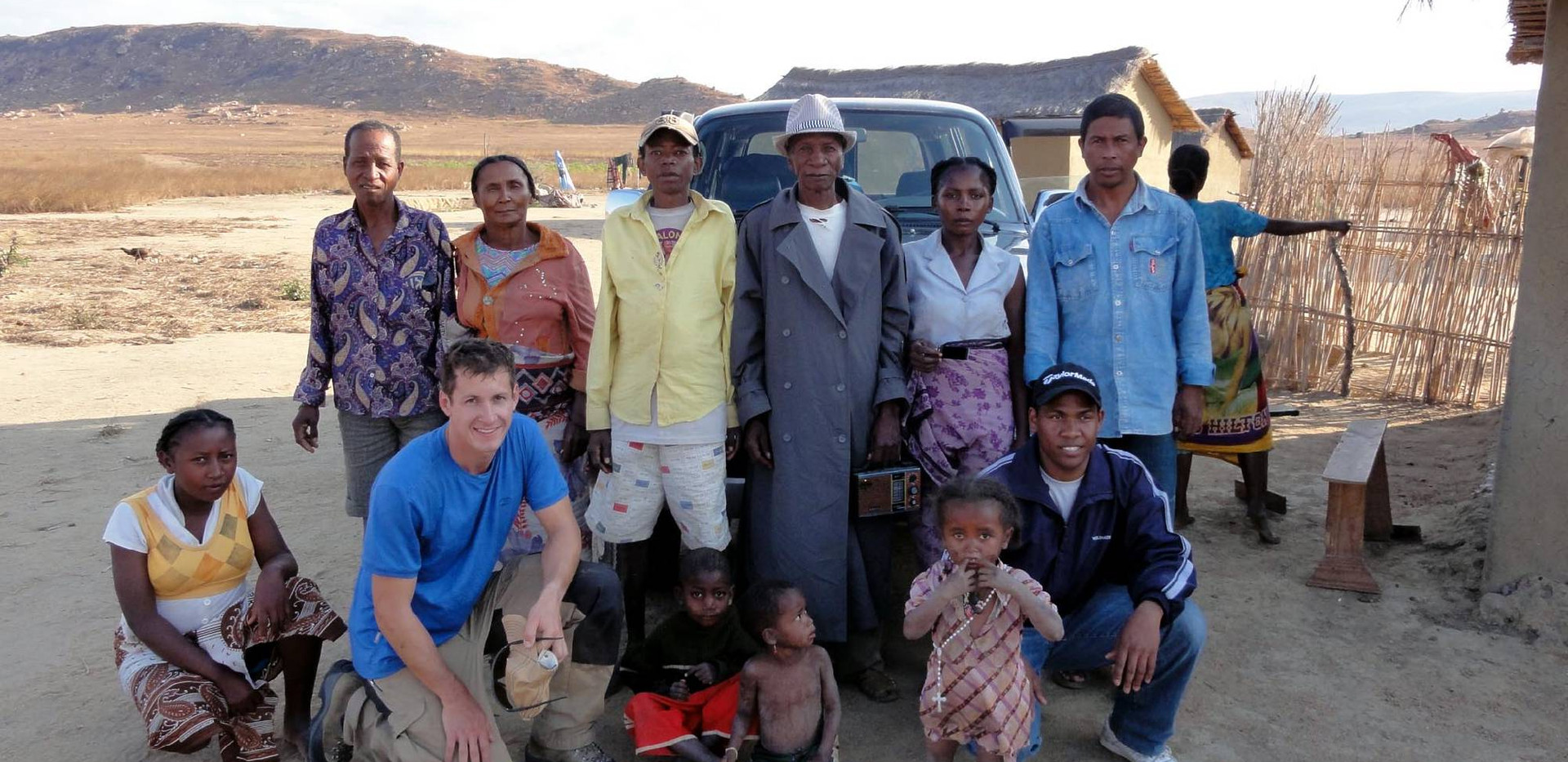 Villagers interested in our work.