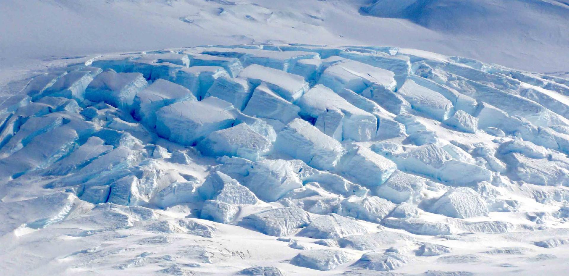 Glacial blocks.