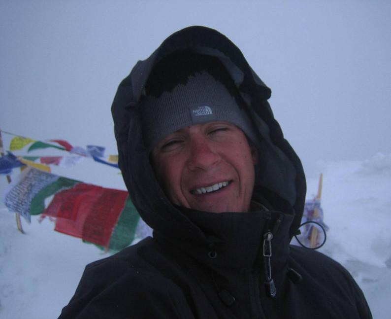 Summit of Stok Kangri, 6am.