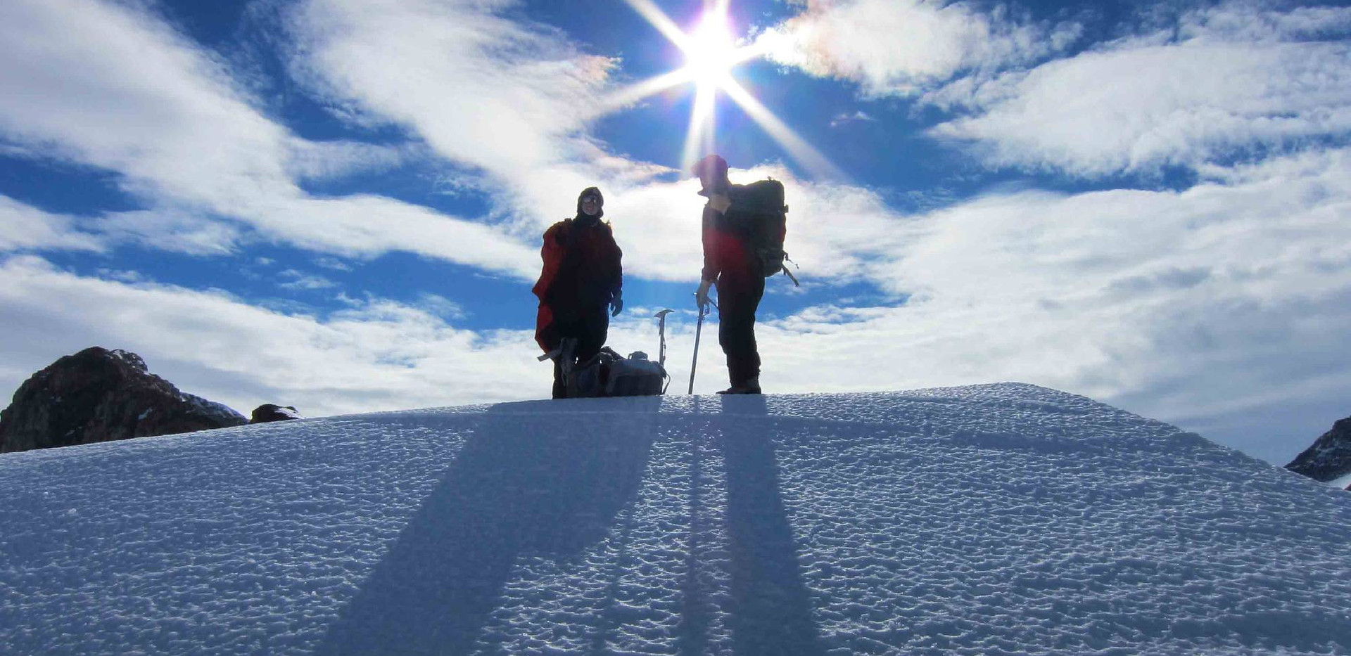 Antarctic sun, circling overhead.