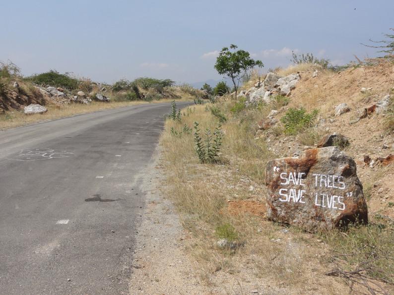 Roadside environmental sentiments.