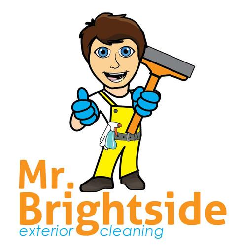 Mr Brightside_Home Service Industry Logo