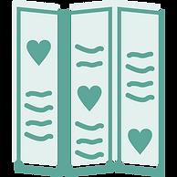 tri fold brochure icon