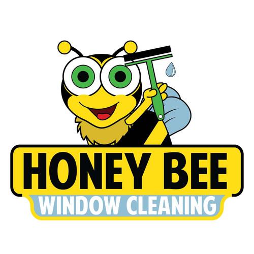 Honey Bee Window cleaning logo_window cl