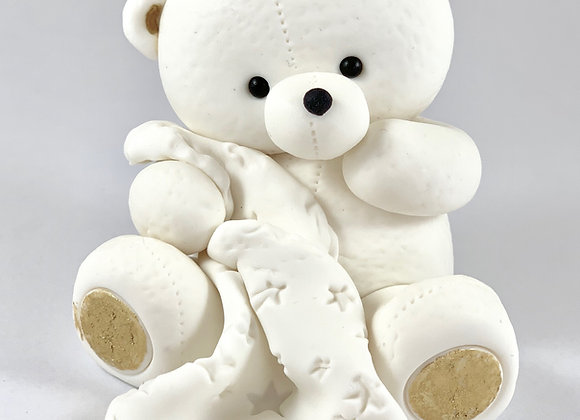 Large Fondant Teddy with a Star Blanket Cake topper Decoration