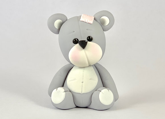 Fondant Teddy with a Patch Cake Topper