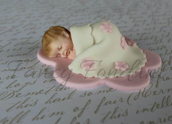 Fondant Baby, Blanket, Cake Topper