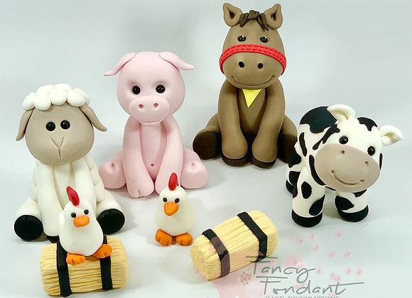 Fondant Farm Animal Collection