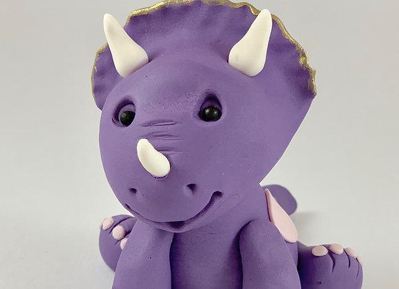 Fondant Triceratop Dinosaur