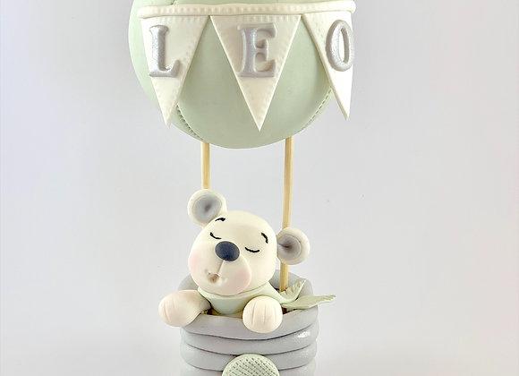 Fondant Hot Air Balloon Cake topper Decoration