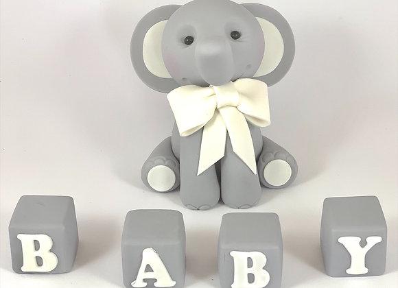 Fondant Elephant with 4 Blocks