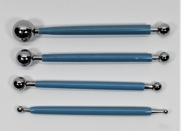 4 PCS STAINLESS STEEL BALLING TOOL - Flower Ball Tools