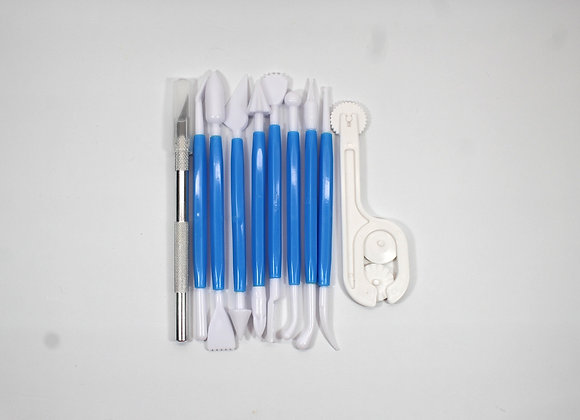Fondant - Gum Paste Modelling Tool Set of 10 Pieces