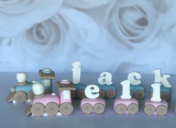 "Fondant Loco Train Cake Topper Decoration to 8"" Cake"