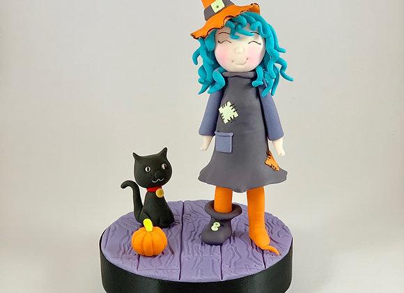Fondant Halloween Witch