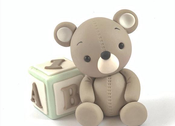Fondant Teddy with ABC Block