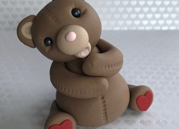 Fondant Teddy Bear Cake Topper