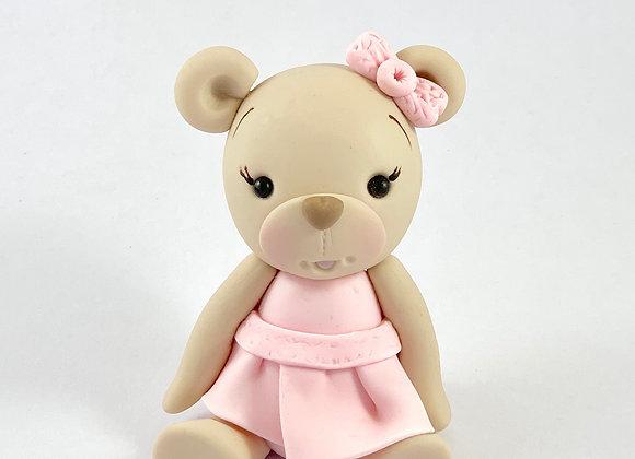 Fondant Teddy in a Dress Cake Topper