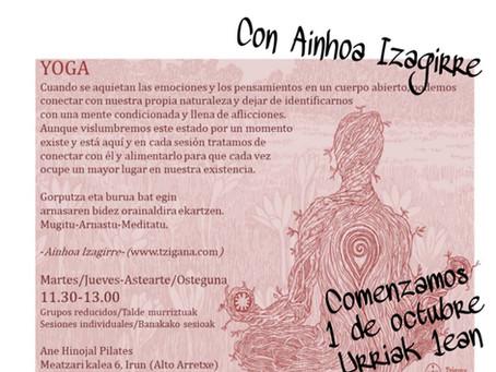 CLASES DE YOGA con Ainhoa Izagirre