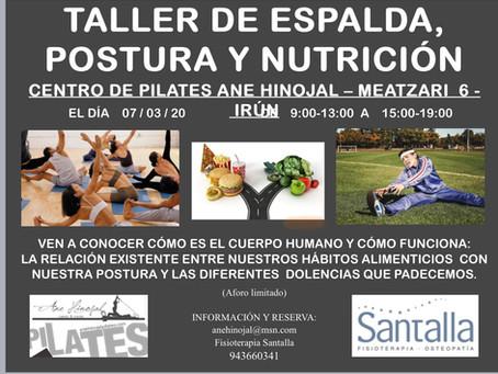 TALLER DE ESPALADA, POSTURA Y NUTRICION  , EL 7 DE MARZO