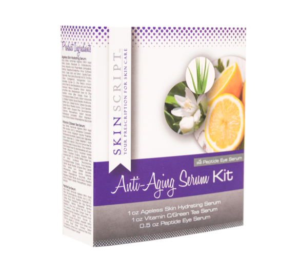 Skin Script - Anti-Aging Serum Kit with Peptide Eye Serum, the best skincare serum products to have in a skin care routine.