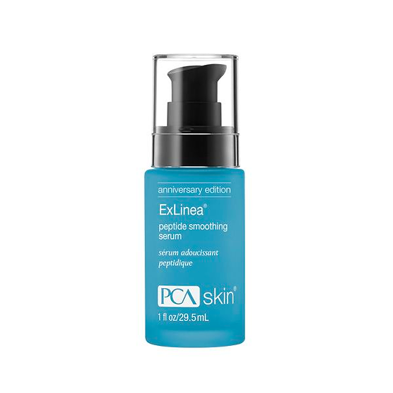 PCA Skin ExLinea Peptide Smoothing Serum, one of the best skincare products to have in a skin care routine.