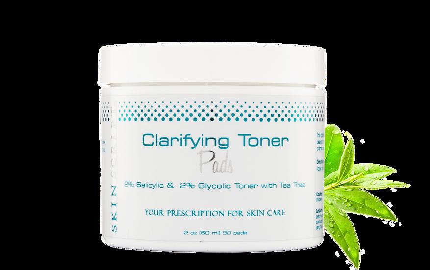 Skin Script - Clarifying Pads with 2% Salicylic, 2% Glycolic, Tea Tree