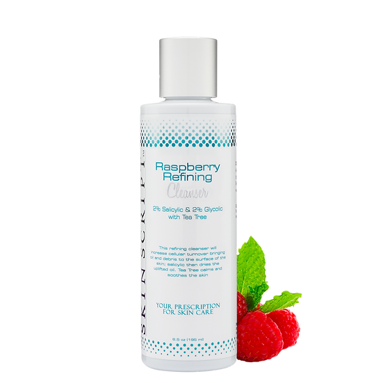 Skin Script Raspberry Refining Cleanser, the best facial cleanser product in a skin care routine.