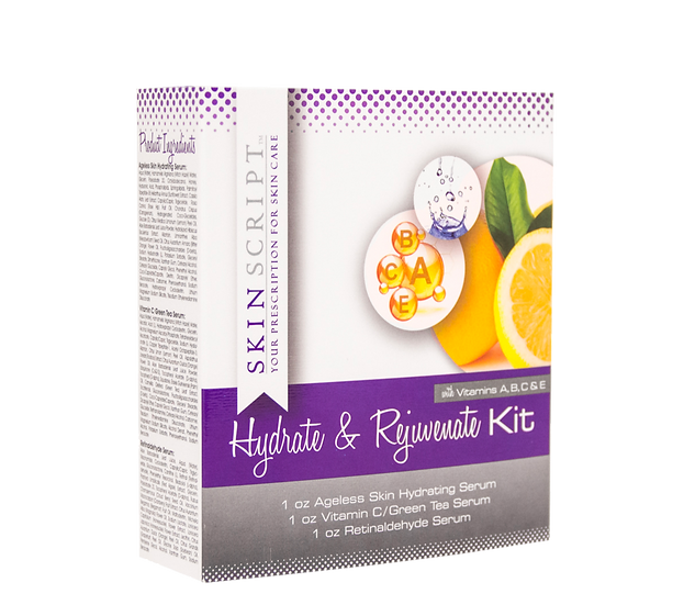 Skin Script - Hydrate & Rejuvenate Serum Kit contains the best skin care serum products.