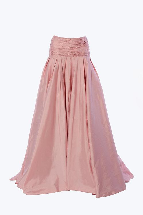 Silk Taffeta Maxi Skirt