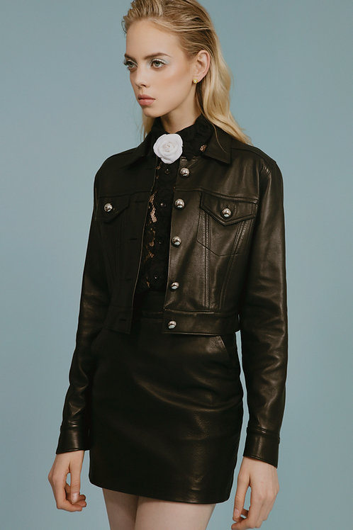 Basic Leather Skirt
