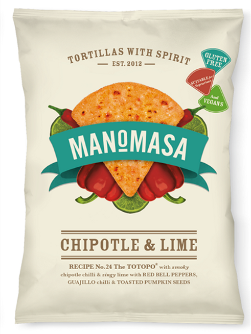 Manomasa - Chipotle & lime tortillas