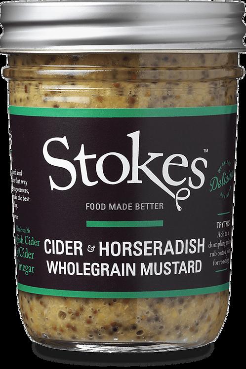 Stokes Cider & Horseradish Wholegrain Mustard
