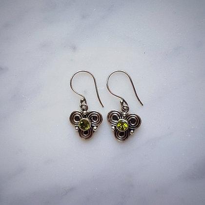 (Style 1) Citrine Drop Earrings in Sterling Silver