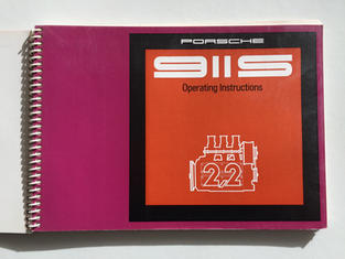 Porsche 911S 2.2 drivers manual