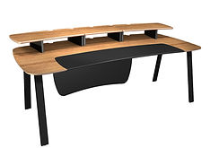 Flecto edit desk with monitor shelf