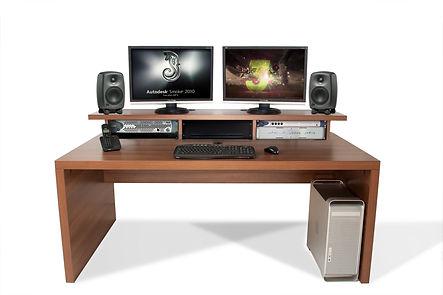 Slab Desk with Monitor Shelf