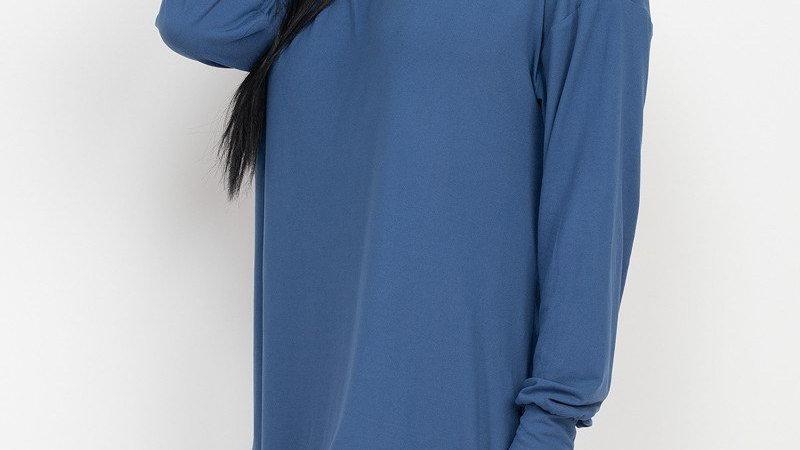 Comfortable & Cute High Low Dress (Blue)
