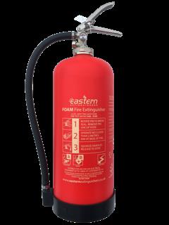Caravan park fire extinguisher