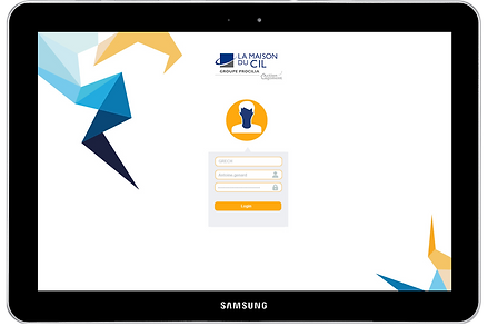 Page de login de Safran mobile