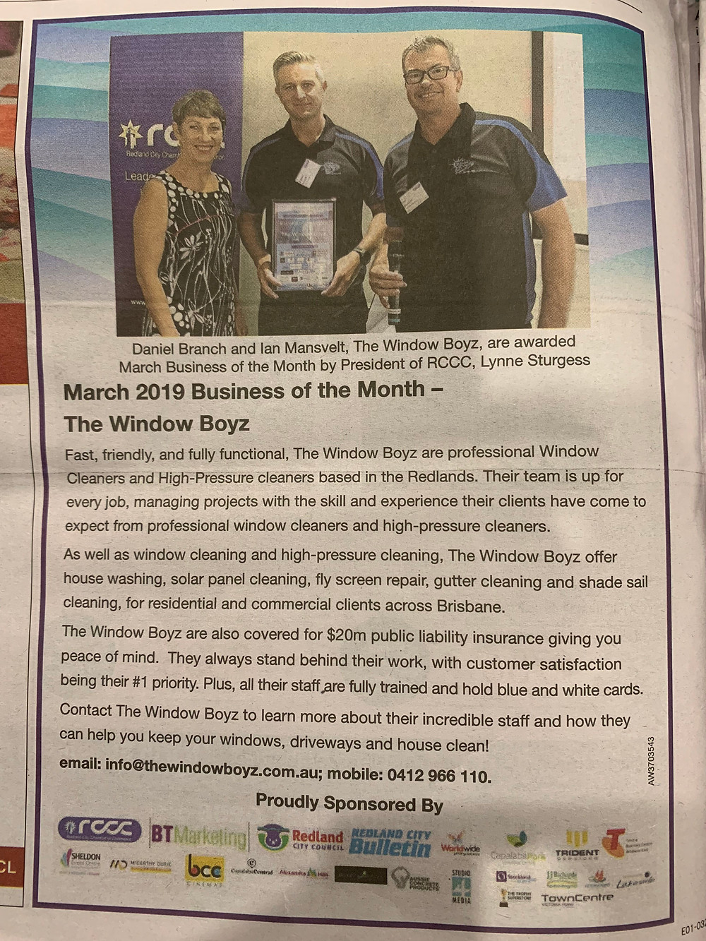 March 2019 RCCC Business of the Month