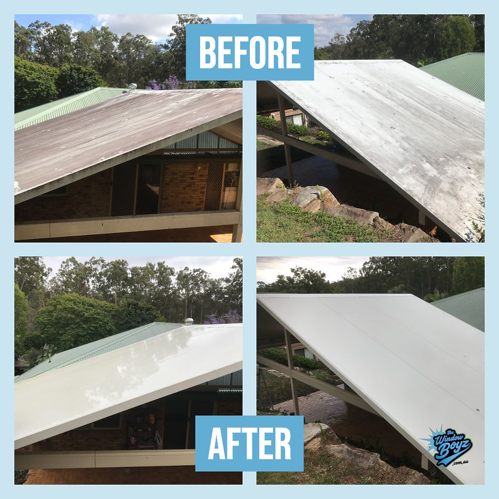 Soft washing a roof
